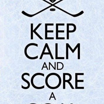 Keep Calm and Score a Goal Hockey Poster Prints at AllPosters.com