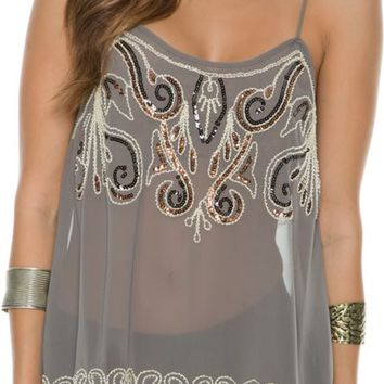 SWELL RESOLUTION SPARKLE TANK TOP