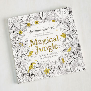 The Draw of the Jungle Coloring Book | Mod Retro Vintage Books | ModCloth.com