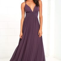 Depths of My Love Dusty Purple Maxi Dress