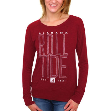 Alabama Crimson Tide Women's Burnout Meshey Long Sleeve Raglan T-Shirt – Cardinal