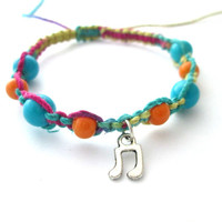 Music Note Bracelet Colorful Hippie Jewelry Macrame Hemp Jewelry Hemp Bracelet Colorful
