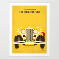 No206 My The Great Gatsby minimal movie poster Art Print by Chungkong