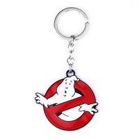 New arrival Ghostbusters keychain  Alloy metal pedant Ghostbusters Logo keyring Metal key chain ring souvenirs