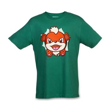 Growlithe Hip Pop Parade Relaxed Fit Crewneck T-Shirt
