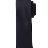 Solid Woven Skinny Tie