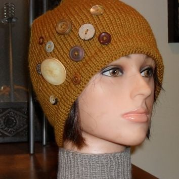 Hand Knit Wool Hat - Free Shipping
