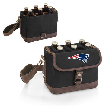 New England Patriots 'Beer Caddy' Cooler Tote with Opener-Black Digital Print
