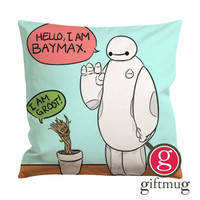 Marvel Character Baymax and Groot Cushion Case / Pillow Case