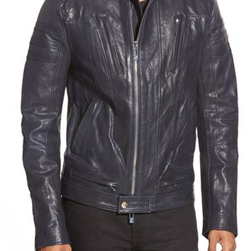 Men's Rogue Cafe Racer Leather Jacket,
