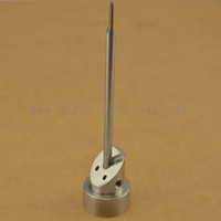 High quality GR2 Titanium Level Carb Cap with flat end tip dabber