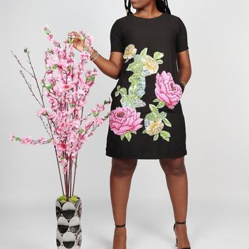 Floral African Shift Dress