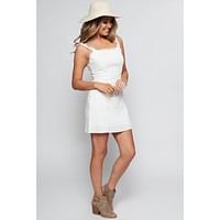Violetta Ruffle Dress (Ivory)