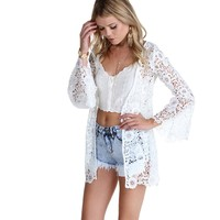 Ivory Once Upon A Time Crochet Jacket