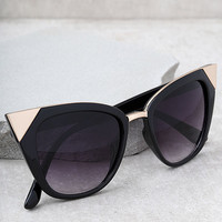 Modern Romance Black Cat-Eye Sunglasses