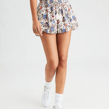 AE Printed Lined Dolphin Short, Cream
