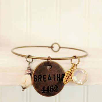 Just Breathe Bracelet-Bracelet-Jewelry-Yoga Bracelet-Inspirational Jewelry-Inspire-