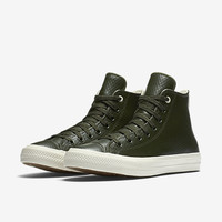 The Converse Chuck II Mesh Backed Leather High Top Unisex Shoe.
