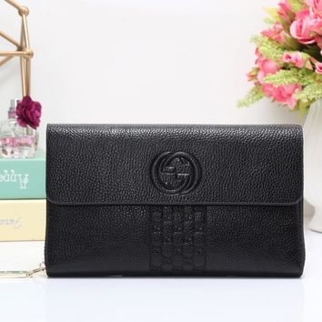 Gucci Women Fashion Leather Wallet Purse-1