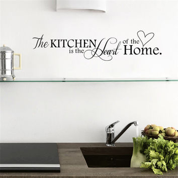 Removable PVC Wall Sticker Kitchen Heart Pattern Wall Papers for Kitchen Background Wall Decals Home Decoration