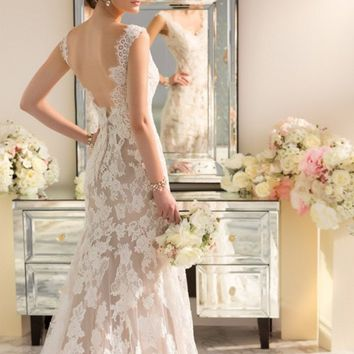Modern Vintage Wedding Dress 2016 Sexy Lace Backless Wedding Dresses White Ivory Cafe Red Romantic Princess Wedding Gowns