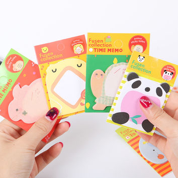 1pcs Cute Forest Animal Sticky Notes Memo Pad Paper Sticker Post It Notepad Gift Office Stationery Escolar