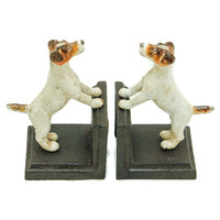 Cast Iron Jack Russell Bookend Set