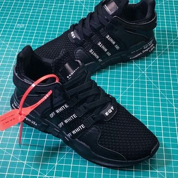 OFF White X  Adidas Eqt Support Adv 93 / 17 Black Sport Running Shoes - Best Online Sale