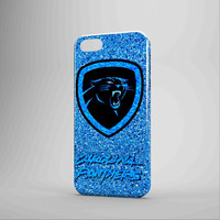 Carolina Panthers NFL Logo Glitter US  iPhone Case Samsung Galaxy Case KK 3D