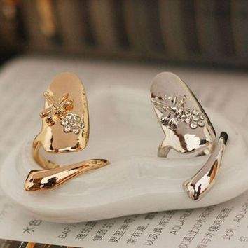 ONETOW New fashion nail cover ring jewelry