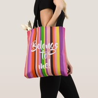 Cool Shecky colorful stripes texture Tote Bag