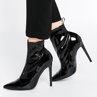 ASOS ENVISION Pointed Sock Boots