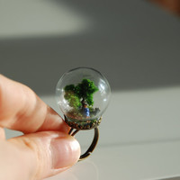 Amazing glass ring' Tree time'