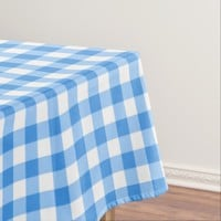 Gingham Check Tablecloth | Blue And White Checks