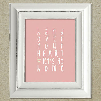 kings of leon art print / cold desert lyrics
