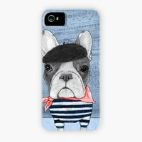 """French Bulldog in front of Arc du Triumph"" - Phone Case by Barruf"