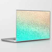 GATSBY AQUA GOLD Laptop & iPad Skin by Monika Strigel
