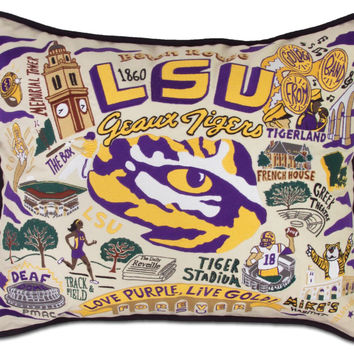 Louisiana State University Embroidered Pillow
