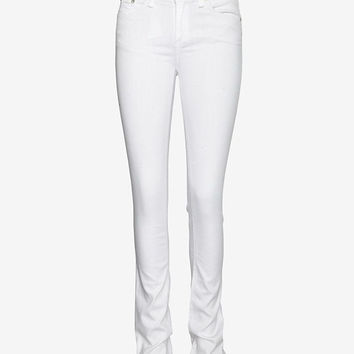 (Brand New W Tags!) Rag & Bone/Jean Intermix Exclusive Midrise Straight Skinny Leg: White Denim Jeans (Size 24) $198