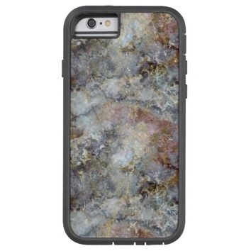 Multi-colored Iridescent Marble with Gold Veins Tough Xtreme iPhone 6 Case