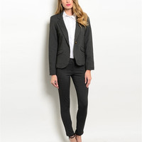 Isn't It Chic Charcoal Women's Business Suit set
