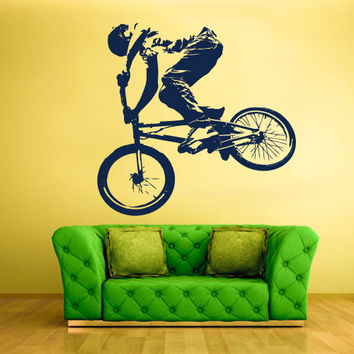 rvz1325 Wall Decal Vinyl Sticker Decals Bike Cycle BMX Bicycle Jump