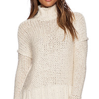 Free People Long Summer Pullover in Cream