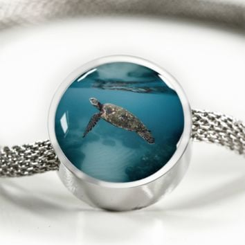 Sea Turtle Reflection - Charm Bracelets for Women [Custom Jewelry]