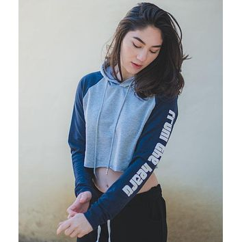 From the Heart - Crop Hoodie