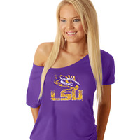 LSU® Off the Shoulder T - Shirt