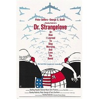 stanley kubrick's DR. STRANGELOVE movie poster 1964 PETER SELLERS 24X36