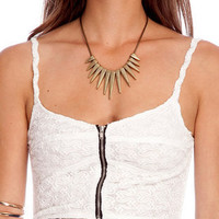 Lacey Faire Cami Tank Top in Ivory :: tobi