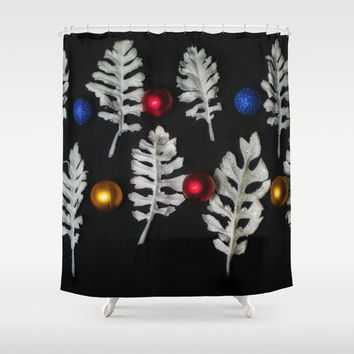 Contemporary Christmas Shower Curtain by Scott Hervieux