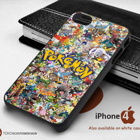 All Pokemon Character Collage case for iPhone 4/4S, iPhone 5/5S, iPhone 6, iPod 4, iPod 5, Samsung Galaxy Note 3, Galaxy Note 4, Galaxy S3, Galaxy S4, Galaxy S5, Galaxy S6, Phone Case